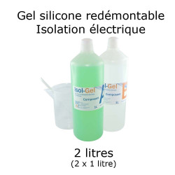 bidon de gel silicone étanche bi composant 2 litres