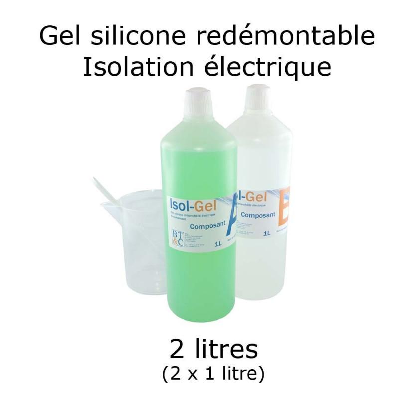 Gel silicone bi-composant en bidon