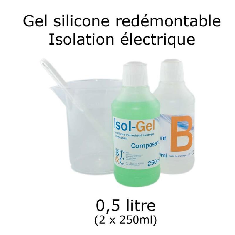 bidon de gel silicone étanche bi composant 0.5 litres