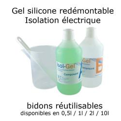 Gel silicone bi-composant...