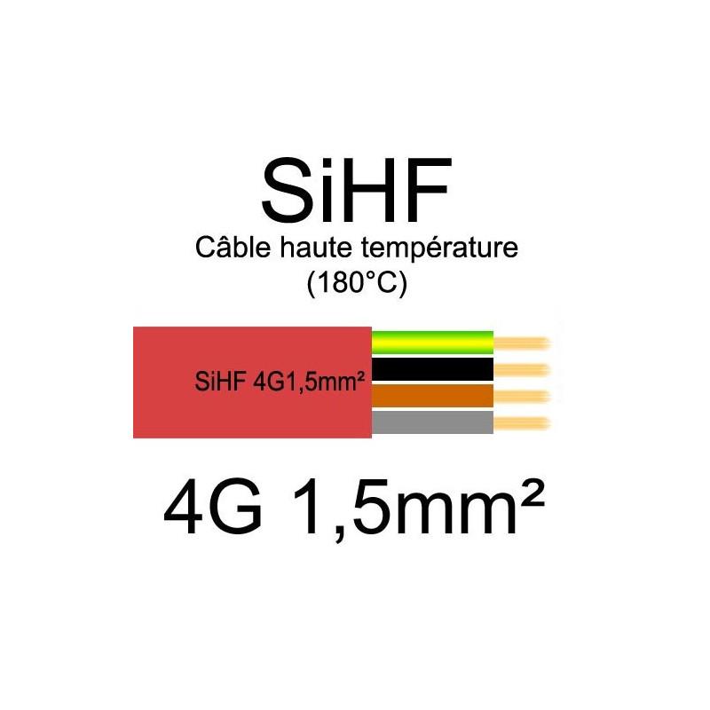 Câble électrique souple haute température SIHF