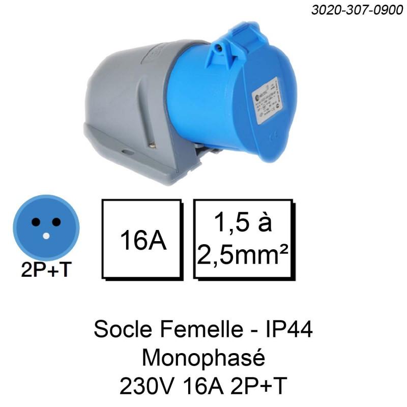 Prise industrielle IP44 IK08