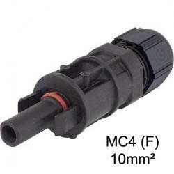boitier de  connecteur solaire photovoltaique MC4 10mm² femelle