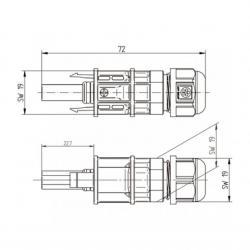 dimensions boitier connecteur MC4 10mm²