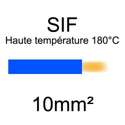 fil cuivre souple isolé silicone 10mm2 bleu
