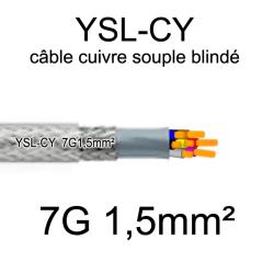 câble électrique cuivre souple blindé YSL-CY 7 conducteurs 1.5mm²