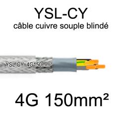 câble électrique cuivre souple blindé YSL-CY 4 conducteurs 150mm²