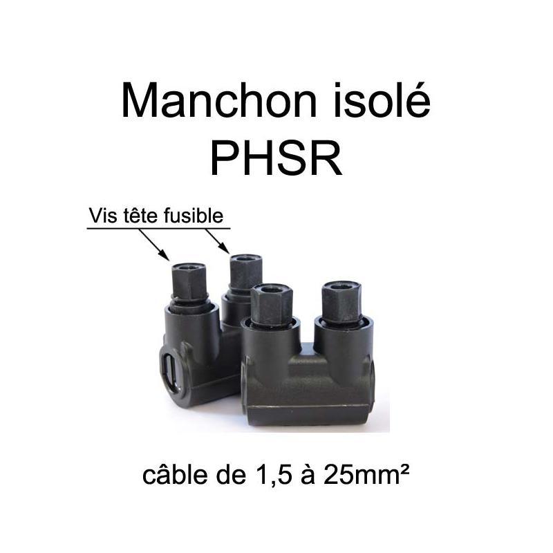 manchon de raccordement et prolongation de fil électrique entièrement isolé
