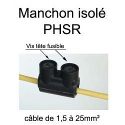 manchon de raccordement et prolongation de fil électrique entièrement isolé avec fil monté