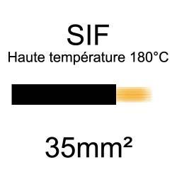 fil cuivre souple isolé silicone 35mm2 noir