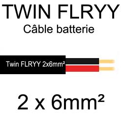 câble électrique souple spécial batterie 2 conducteurs rouge et noir 6mm²