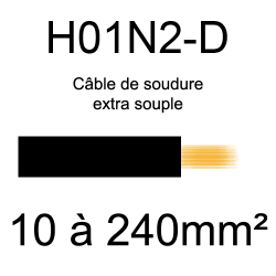 câble électrique pour poste à souder H01N2D 10mm²