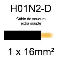 câble électrique pour poste à souder H01N2D 16mm²