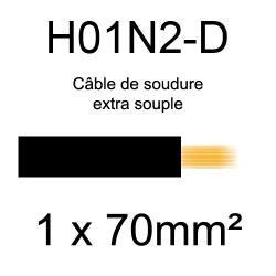 câble électrique pour poste à souder H01N2D 70mm²