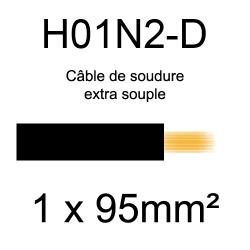 câble électrique pour poste à souder H01N2D 95mm²