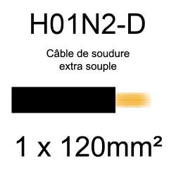 câble électrique pour poste à souder H01N2D 120mm²