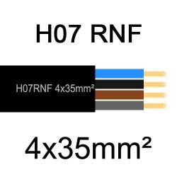 câble électrique extérieur extra souple isolé caoutchouc néoprène H07RNF 4x35mm2
