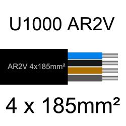 câble électrique aluminimum AR2V 4 conducteurs section 185mm²