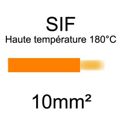 fil cuivre souple isolé silicone 10mm2 orange