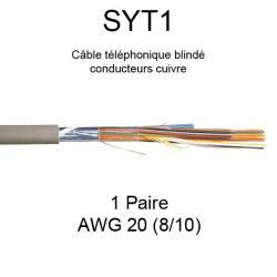 câble téléphone SYT1 1 paire AWG20 8/10