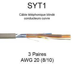 câble téléphone SYT1 3 paires AWG20 8/10
