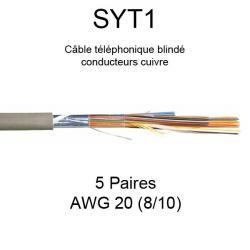 câble téléphone SYT1 5 paires AWG20 8/10