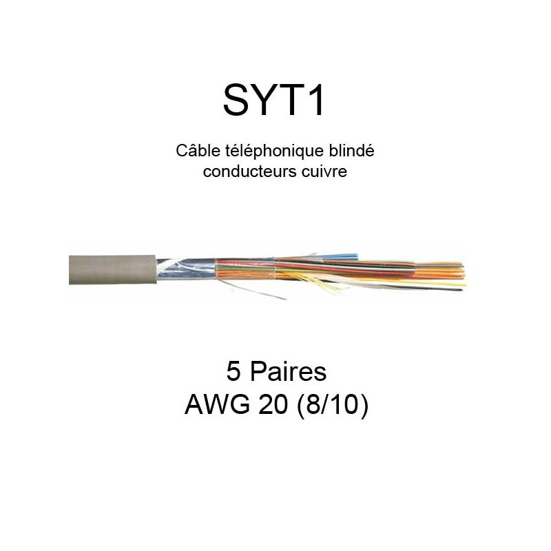 Câble téléphonique SYT1 avec écran