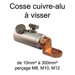 cosse bimétal cuivre alu à visser 35mm² trou M8