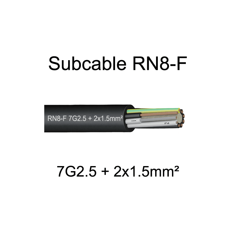 Subcable RN8F immergeable et multisection