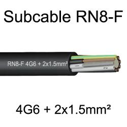 câble cuivre souple étanche immergeable submersible RN8F 4G6+2x1.5mm²