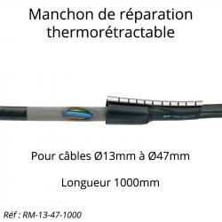 manchon thermorétractable pour réparation de câble électrique