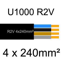 câble électrique cuivre U1000 R2V 4 conducteurs de section 240mm²
