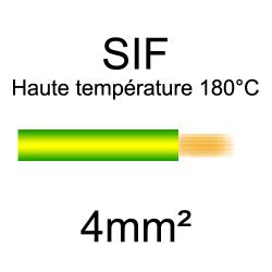 fil cuivre souple isolé silicone 4mm2 Vert et jaune