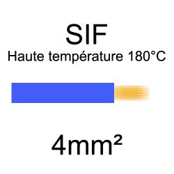 fil cuivre souple isolé silicone 4mm2 bleu