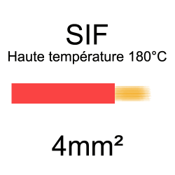 fil cuivre souple isolé silicone 4mm2 rouge