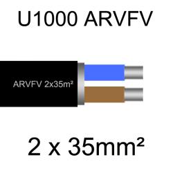 câble électrique armé aluminium ARVFV 2 conducteurs 35mm²