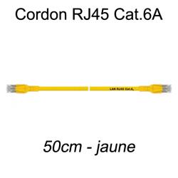 Câble Ethernet RJ45 cat 6a 50cm jaune