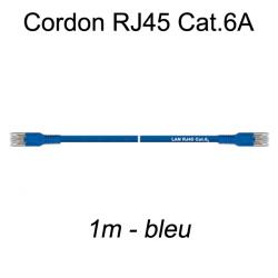 Câble Ethernet RJ45 cat 6a 1m bleu