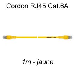 Câble Ethernet RJ45 cat 6a 1m jaune