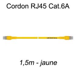 Câble Ethernet RJ45 cat 6a 1,5m jaune
