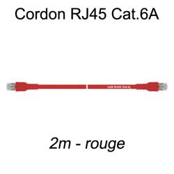 Câble Ethernet RJ45 cat 6a 2m rouge