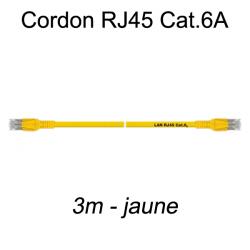 Câble Ethernet RJ45 cat 6a 3m jaune