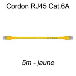 Câble Ethernet RJ45 cat 6a 5m jaune