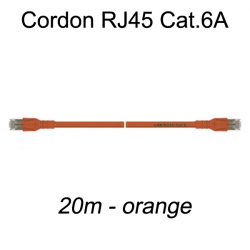 Câble Ethernet RJ45 cat 6a 20m orange