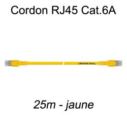 Câble Ethernet RJ45 cat 6a 25m jaune