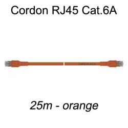 Câble Ethernet RJ45 cat 6a 25m orange