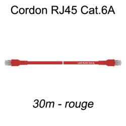 Câble Ethernet RJ45 cat 6a 30m rouge