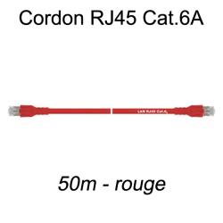 Câble Ethernet RJ45 cat 6a 50m rouge
