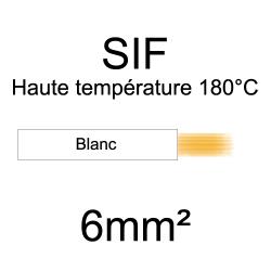 fil cuivre souple isolé silicone 6mm2 blanc