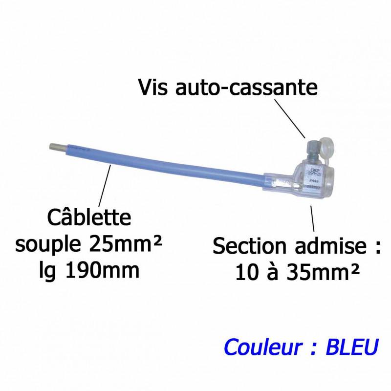 Embout réducteur de câble 10-35/25mm² BLEU